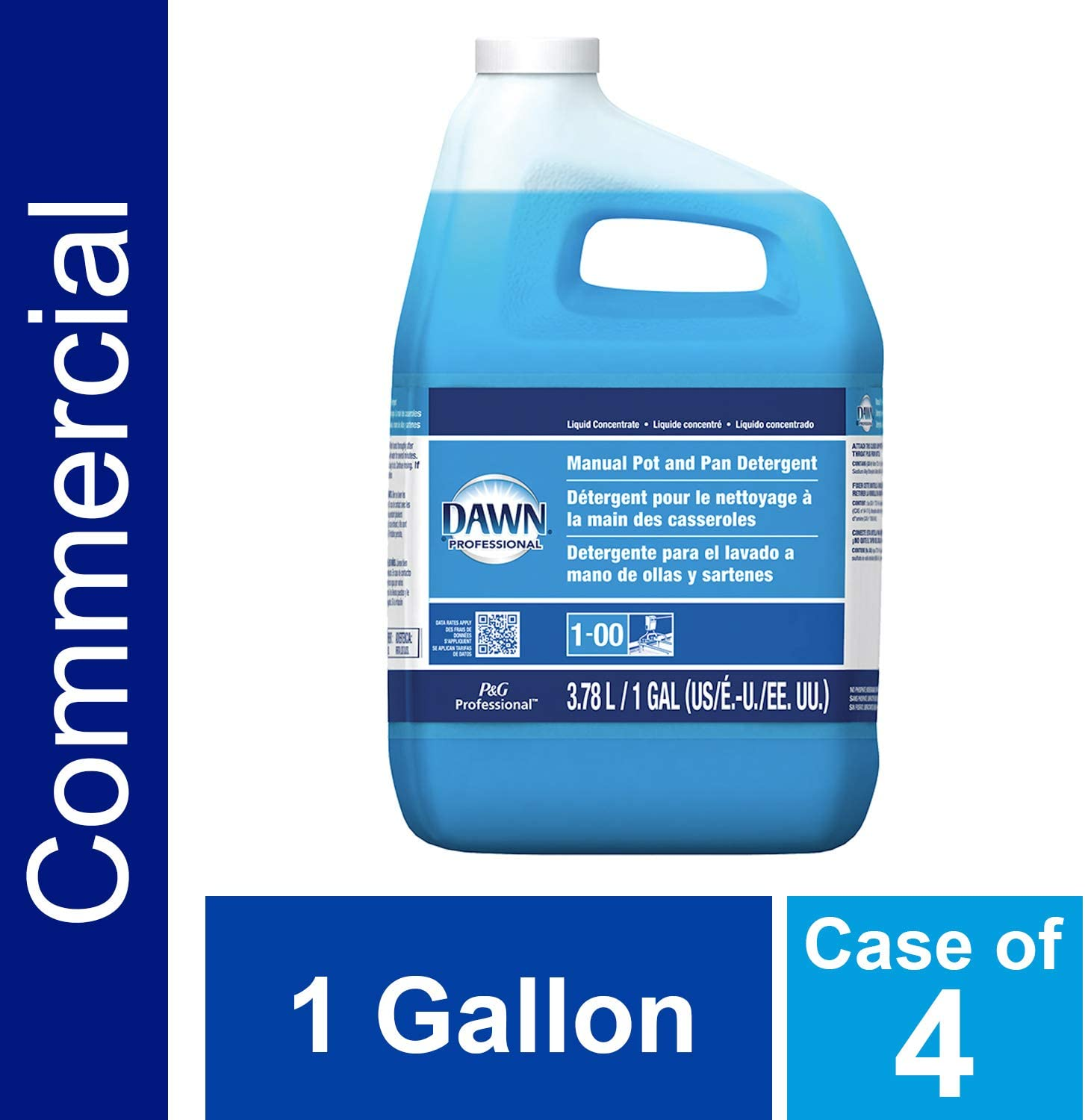 P&G Professional Dawn Professional Manual Pot and Pan Detergent, 1 Gallon (Pack of 4)