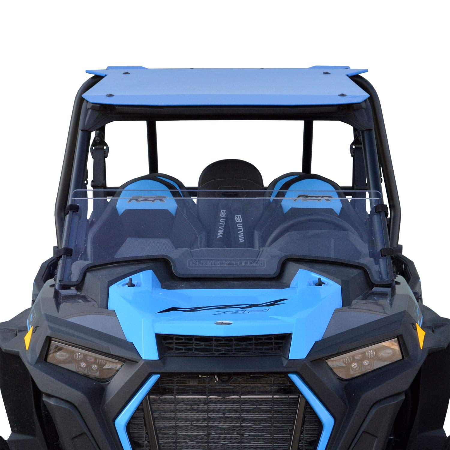 SCRATCH RESISTANT Easy on//Easy off! Hard CoatMade in America! 2019 Polaris RZR 1000 Half Windshield