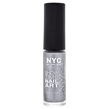 Nyc Showtime Nail Art Number 002 Silverism Amazon Beauty