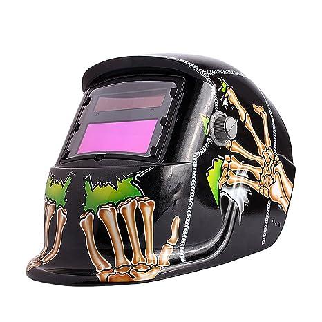Casco de Soldadura, oscurecimiento automático, máscara de soldar, Funciona con energía Solar,