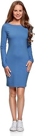 oodji Ultra Femme Robe en Maille Moulante