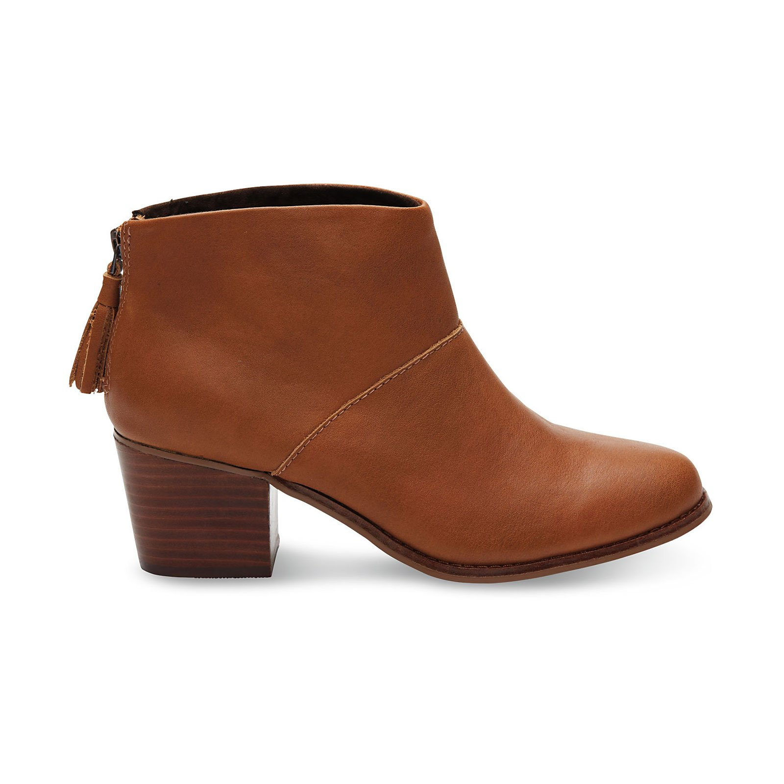 TOMS Women's Leila Bootie Warm Tan Leather 5 B US