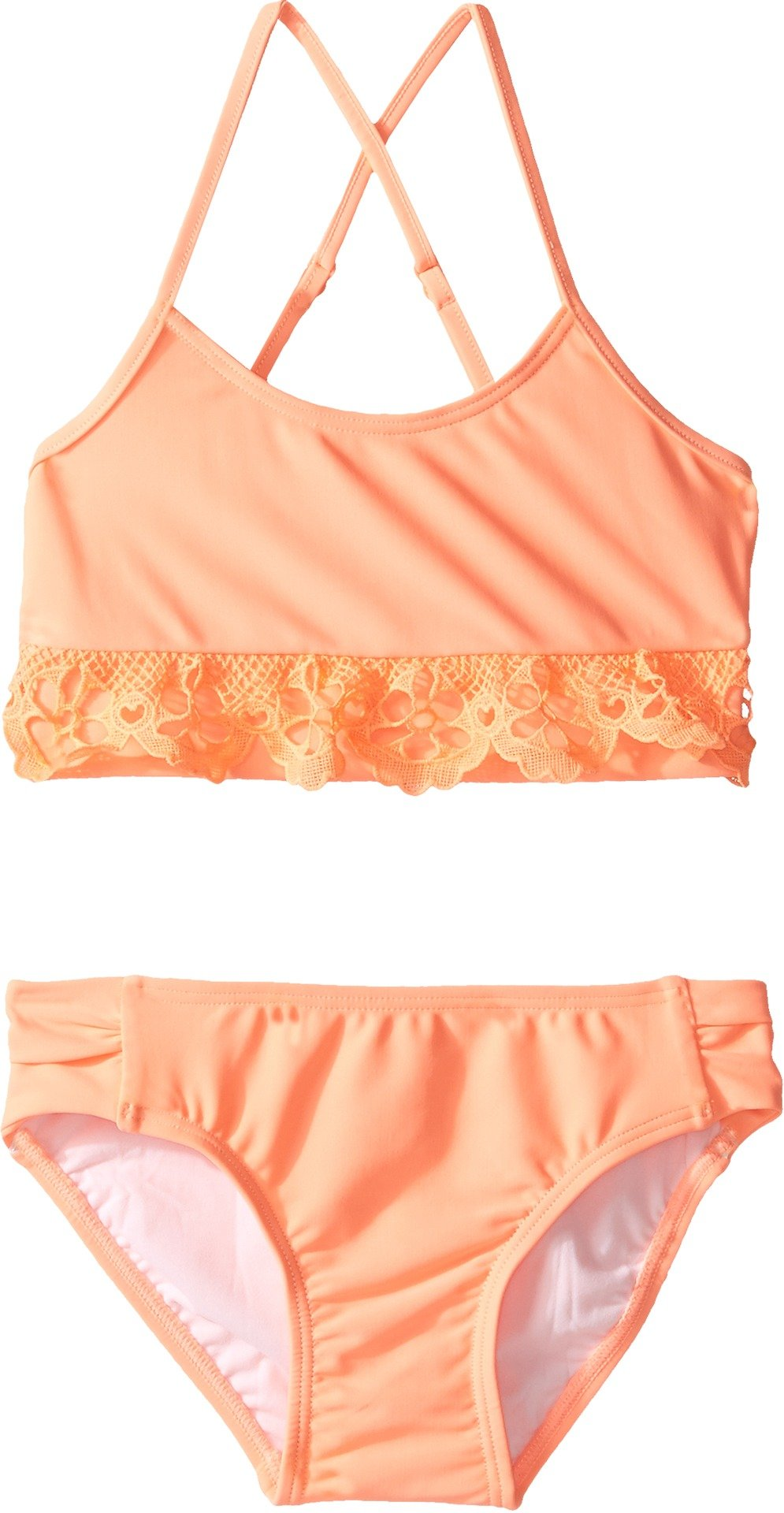 Seafolly Little Girls' Sweet Summer Tankini, Rockmelon, 7