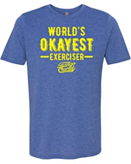 b2a20b912 Tango Charlie Apparel - Men's World's Okayest Exerciser Crossfit T-Shirt – Funny  Graphic Workout