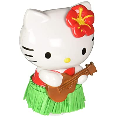 CHROMA 048004 White/Black/Green Hello Kitty Hula Dancer Red Dashboard Auto Ornament: Automotive