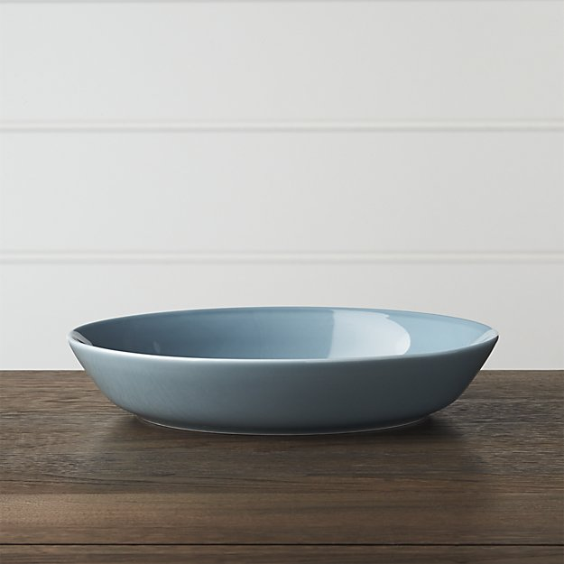Hue Blue Low Bowl | Crate and Barrel