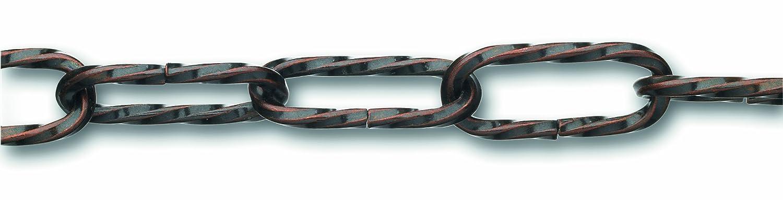 Di/ámetro 2,2 mm 10 kg Chapuis LVBL16 Cadena para l/ámpara Largo 1,5 m Alambre de acero retorcido con acabado de bronce