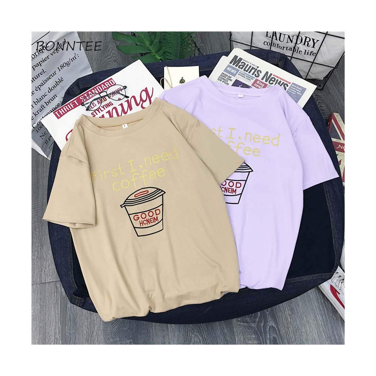 Ulzzang Short Sleeve T-Shirt Tops Womens Korean Students All ...