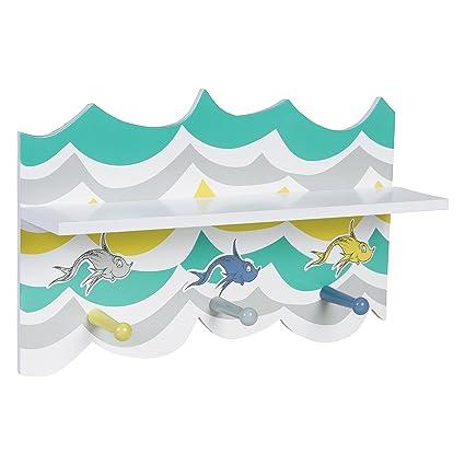 Tendencia Laboratorio Dr. Seuss nuevo pescado estante de pared ...