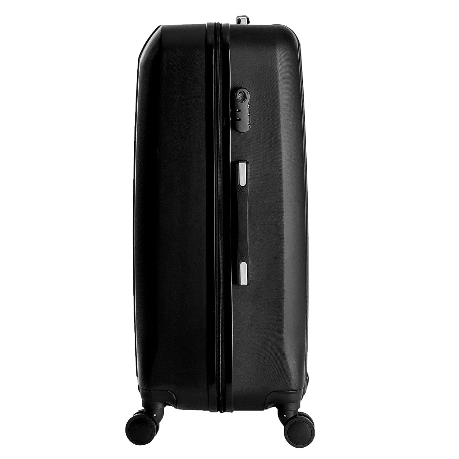 US Best Traveler Only 5 Sets Left Nice1159 New 4 pcs Travel Spinner Luggage Set Bag ABS Trolley Carry On Suitcase Black
