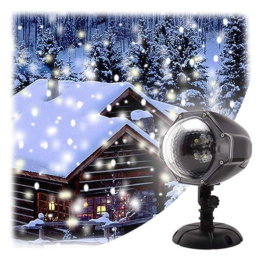 GAXmi Nieve que cae la luz Navidad Nevadas Blancas Luces de ...