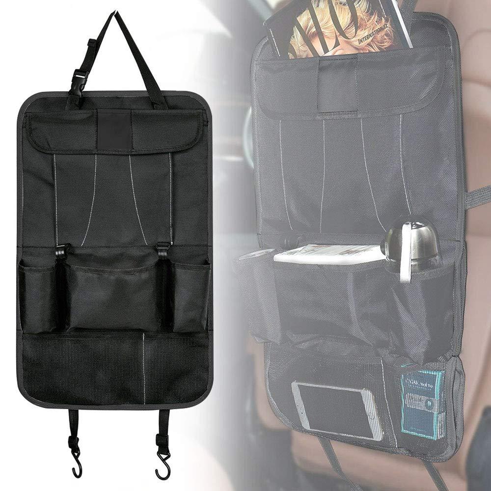 Autositzschoner Rücklehnenschutz Autolehnenschutz Autositz Schutz Kinder Schwarz