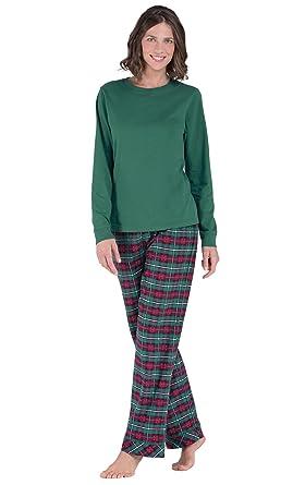 pajamagram christmas pajamas for women flannel pajamas women green xs 2