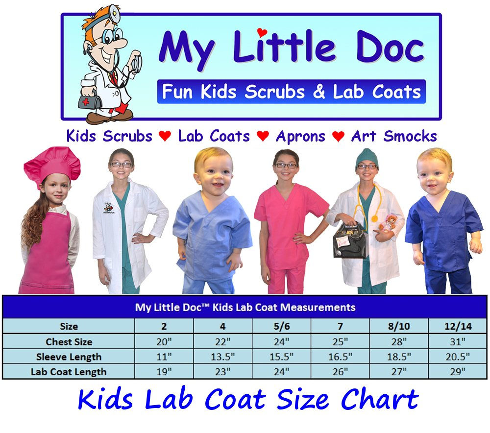 My Little Doc Personalized Kids Lab Coat, Size 7 by My Little Doc (Image #3)
