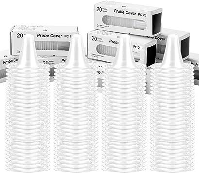 20 sonde Couvre Thermoscan lentille de remplacement thermomètre auriculaire Capuchon filtre à