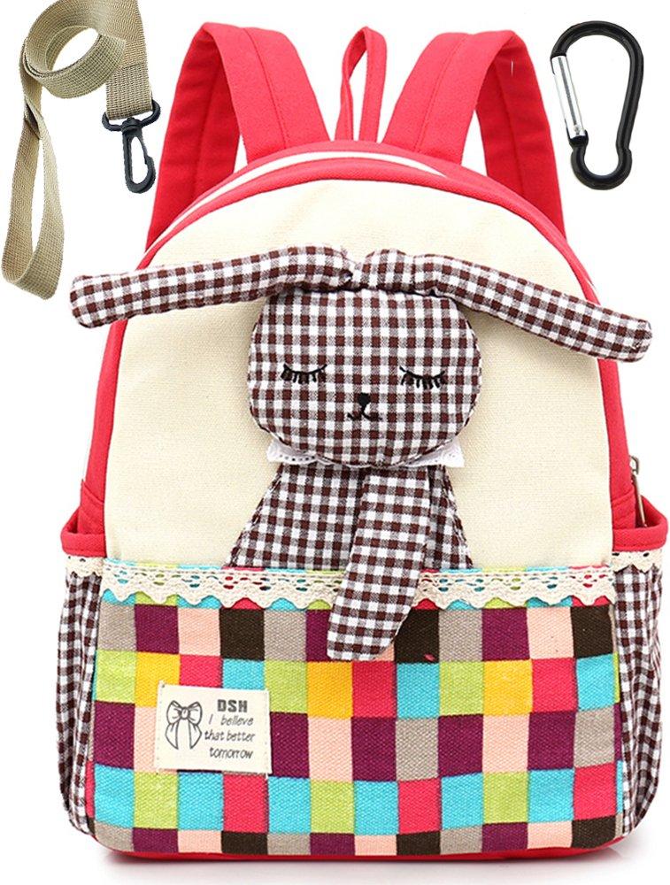Sac A Dos Enfant Fille Lapin Bleu Bambin Cartable Maternelle Garderie PréScolaire(1-3ans) dshmytlan