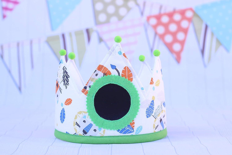 Pittitus corona de tela y pizarra para cumpleaños infantil ...