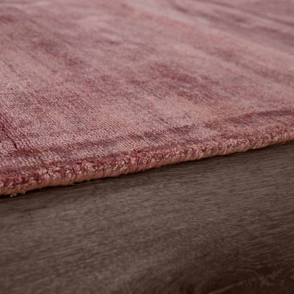 Paco Home Teppich Handgefertigt Hochwertig 100% Viskose Viskose Viskose Vintage Optisch Meliert Blaush Rosa, Grösse 80x150 cm B078Y9VBGZ Teppiche & Lufer afc9e6