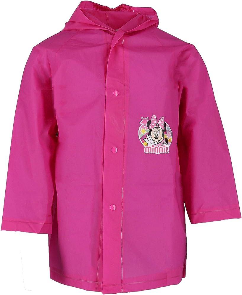 Minnie Mouse Girls Waterproof Hooded Raincoat