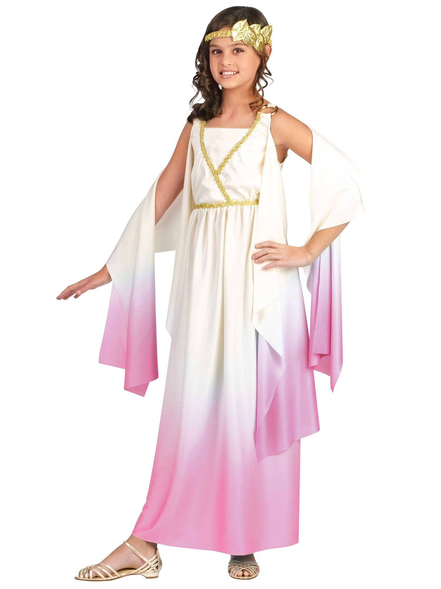 Fun World Little Girl's Athenus Children Costume, Multi Color, Large by Fun World (Image #1)