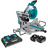 "Makita XSL06PT 18V x2 LXT Lithium-Ion (36V) Brushless Cordless 10"" Dual-Bevel Sliding Compound Miter Saw with Laser Kit (5.0A"
