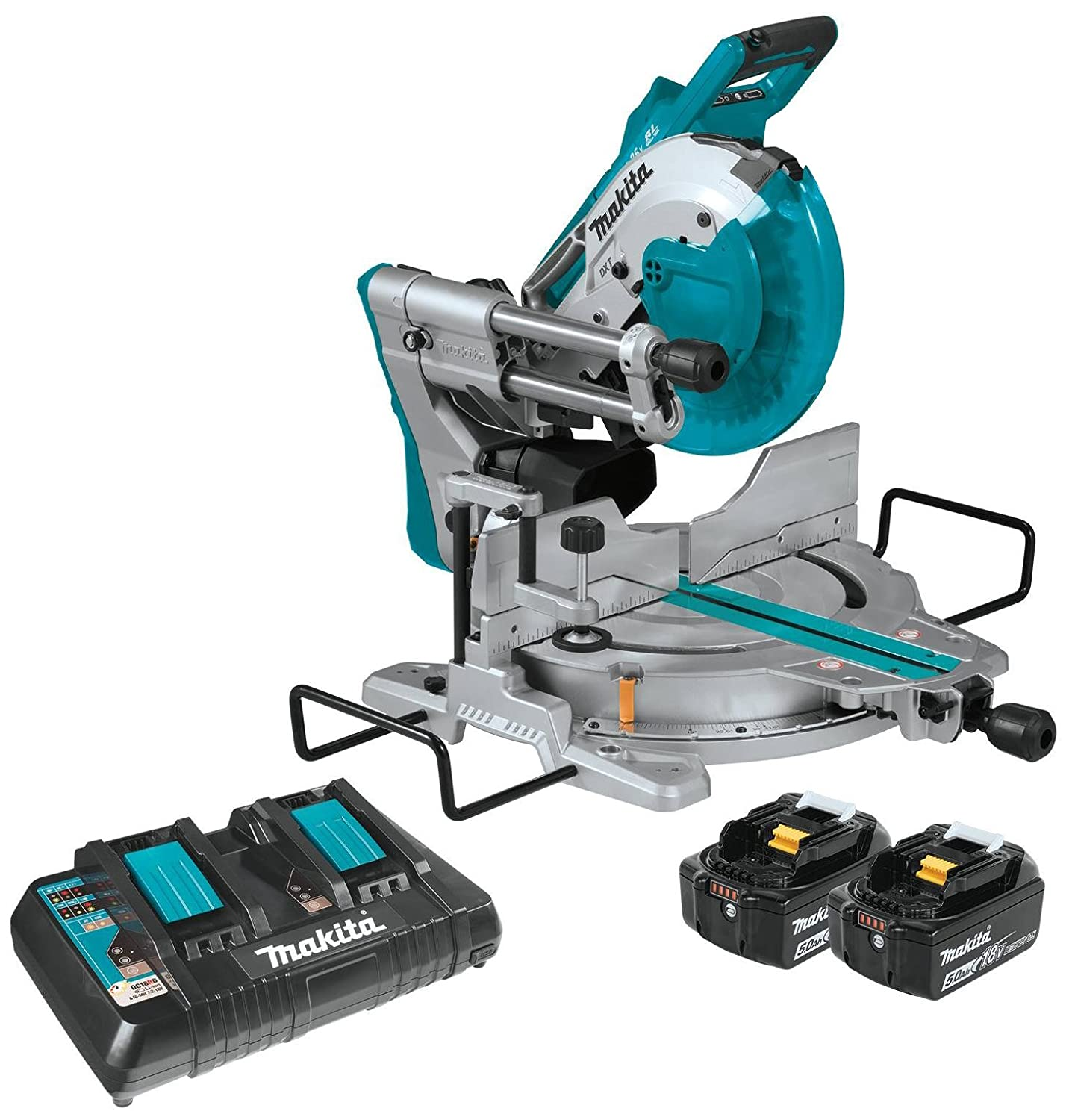 "Makita XSL06PT 10"" Dual-Bevel Sliding Compound Miter Saw with Laser Kit Review 1"