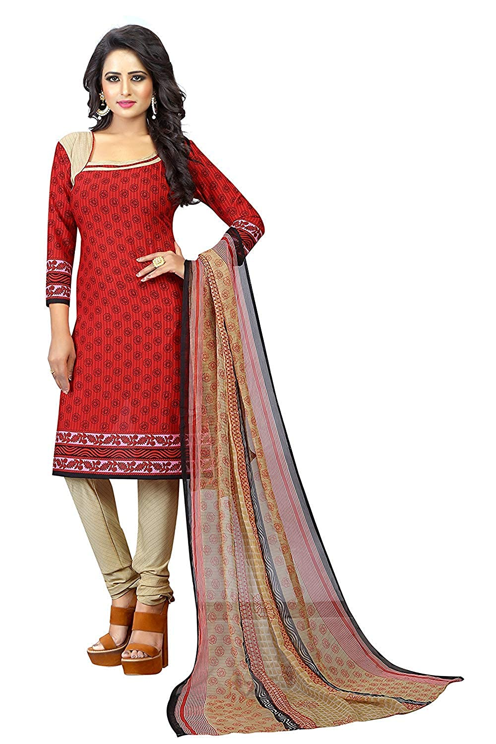 Buy Suit For Women Stylish Below 500 Unstitched Cloveo Salwar Suit