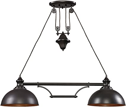 Elk By Inch Farmhouse Light BilliardIsland - 2 light island chandelier