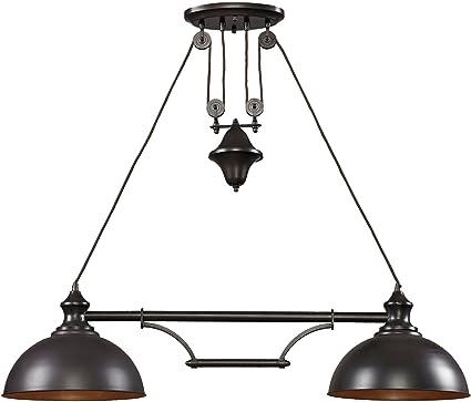 Elk By Inch Farmhouse Light BilliardIsland - 2 light island chandelier