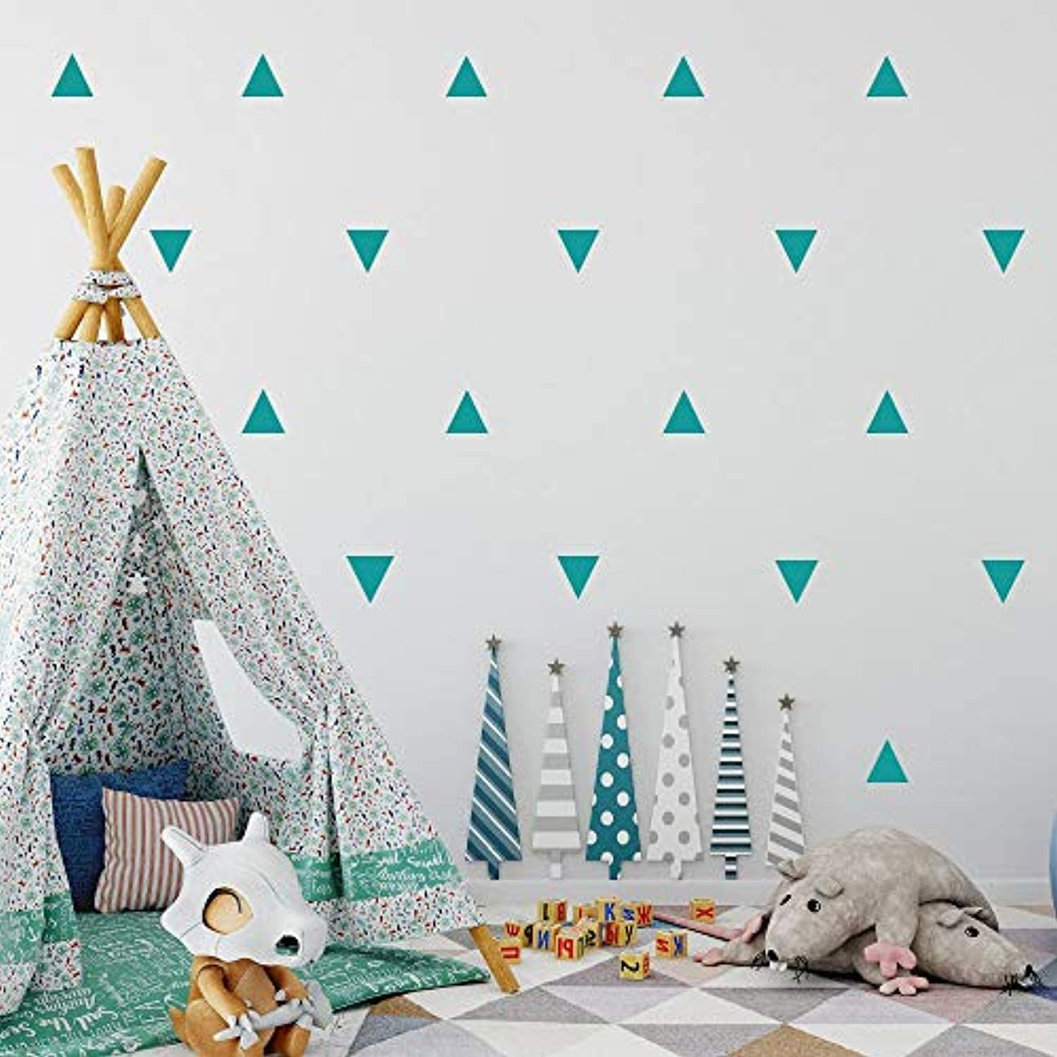 Triangle Wall Decals for Nursery Triangle Wall Stickers Peel /& Stick