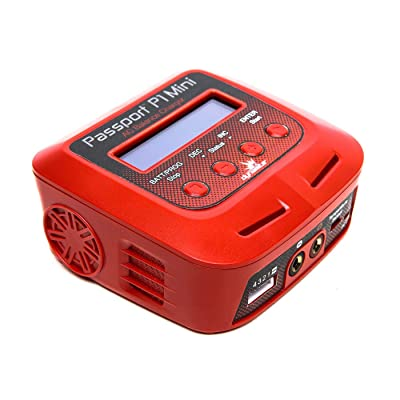 Dynamite Passport P1 Mini 60W AC Multi Balance Battery Charger Discharger with USB for RC Batteries: 2-4 Cell Li-Po, LiHV, Life | 6-8 Cell NiMH, NiCd | 6-12V PB: Toys & Games