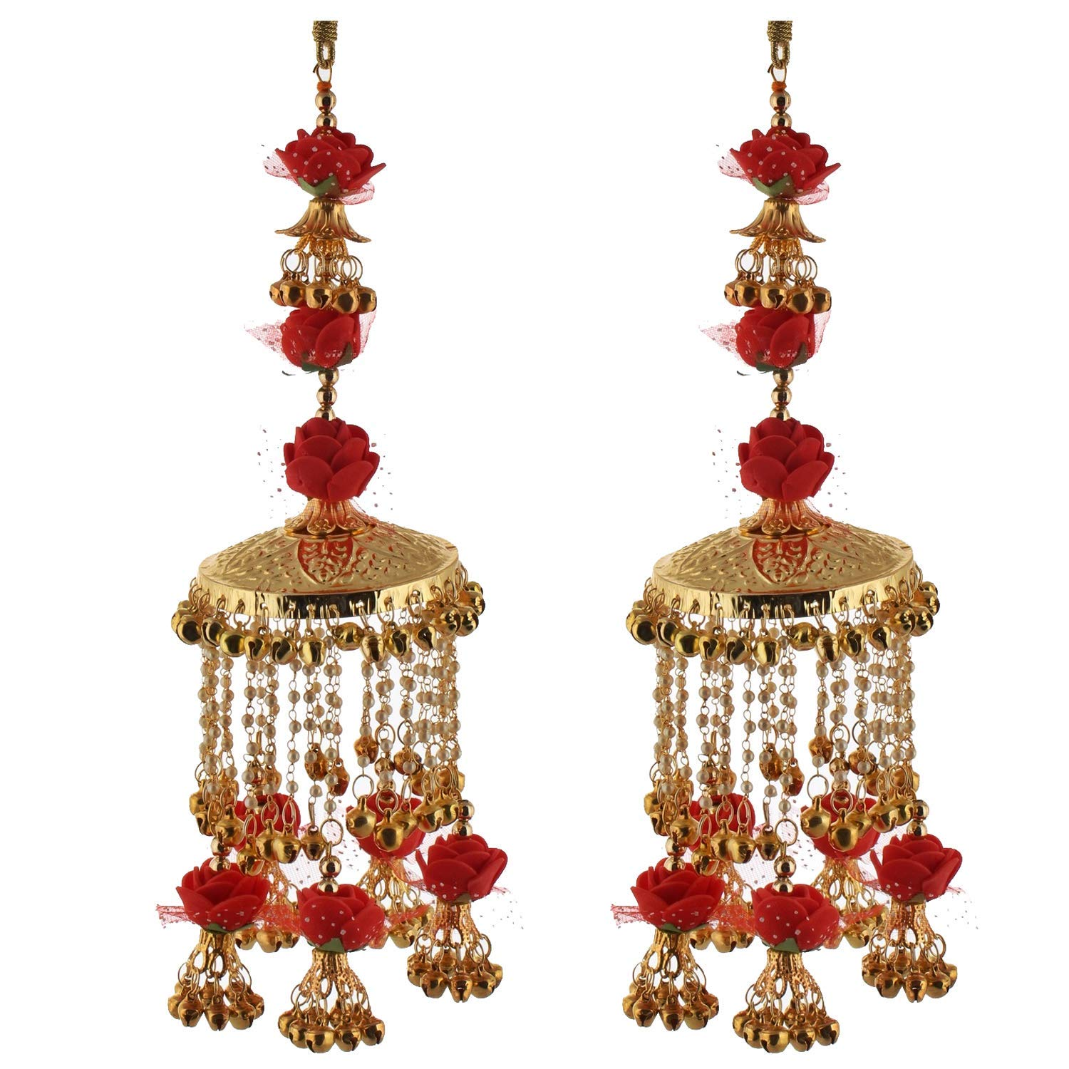 Traditional Golden Red Color Gold Plated kalira