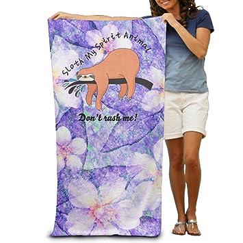 Perezoso mi espíritu Animal tarjeta naranja perezoso Logo toallas de playa de playa servilleta: Amazon.es: Hogar