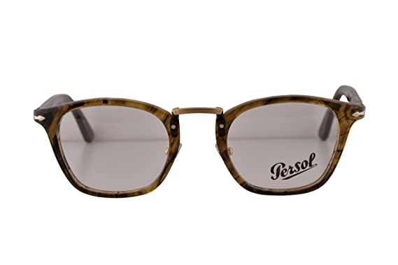ec7a0f5b7c Persol PO3109V Typewriter Edition Eyeglasses 47-22-145 Striped Light Brown  1021 PO3109 (FRAME ONLY)  Amazon.co.uk  Clothing
