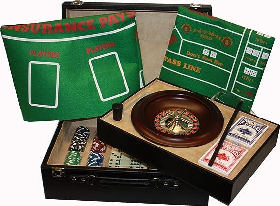 Juego de ruleta y póker en elegante maletín de gran tamaño: Amazon.es: Hogar