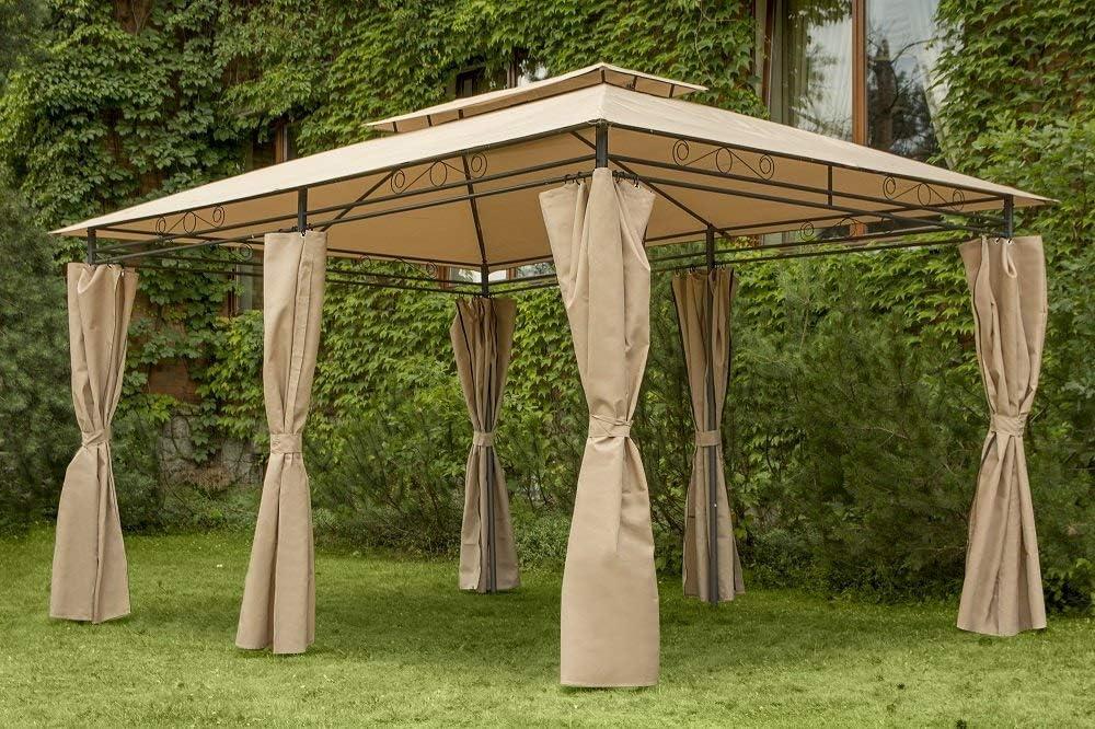 Garden Point Pabellón de Jardín Ibiza 300 x 400 cm | Rectangular | Hidrófugo jardín para Cubrir Muebles de jardín y Jacuzzi | Montaje fácil | con ...