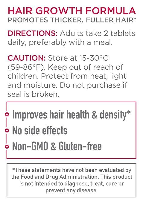 Amazon.com: Suplemento de crecimiento de cabello 3 en 1 de ...
