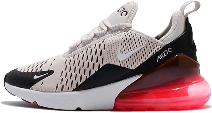 Nike Big Kids AIR MAX 270 Casual Shoes (4.5, Light BoneBlackWhiteHot Punch)