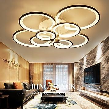 2e6cc6e3e6af02 Moderne Einfache Kreative Led Kreis Kreis Wohnzimmer Schlafzimmer Mode  Restaurant Licht Acryl Persönlichkeit Deckenleuchte