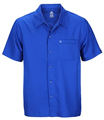 Amazon.com: Adidas Mens Button Down Short Sleeve Casual Camp Shirt ...