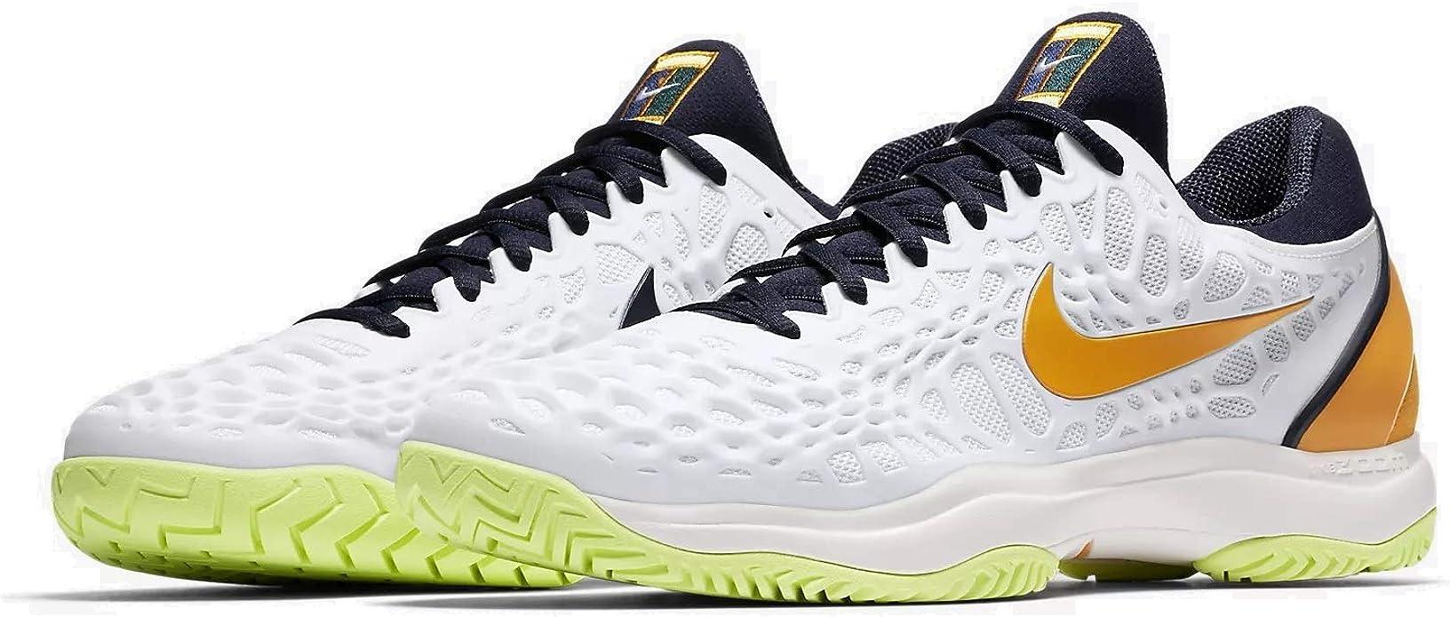 Nike Air Zoom Cage 3 HC, Zapatillas para Hombre, Multicolor (White/Orange Peel/Blackened Blue/Phantom 180), 44.5 EU: Amazon.es: Zapatos y complementos