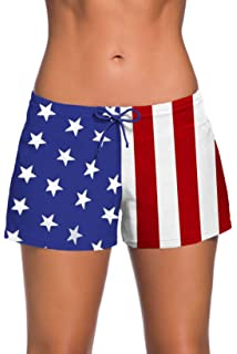 34a0b00d7e Aleumdr Womens Side Split Waistband Swim Shorts with Panty Liner Plus Size S  - 3XL