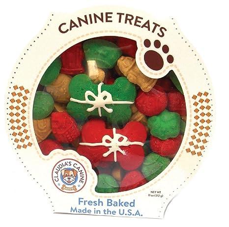 gourmet christmas dog treats 11 oz tub perfect presents