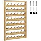 HAITRAL 48-Spool Sewing Thread Rack,Wall-Mounted Sewing Thead Holder with Hanging Hooks, Wooden Organize for Mini Sewing…