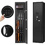 INVIE Large Rifle Safe, Long Gun Safe Rifle Shotgun Locker for Home, Quick Access 4-Gun Electronic Storage Cabinet with Handg