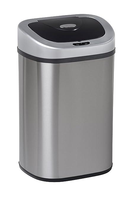 80 litros grande interior reciclaje alimentos residuos doble compartimento doble basura cocina polvo automático Sensor de