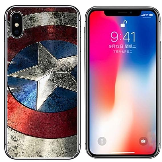 buy popular 40513 ec8c5 Ailiber Case for iPhone Xs Max, Captain America Star Retro Design Slim  Light Soft TPU Shockproof Corners Bumper Protective Cover for Apple  iPhoneXSMax ...