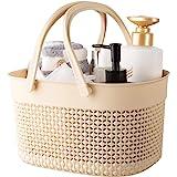 rejomiik Portable Shower Caddy Basket, Plastic Organizer Storage Tote with Handles Toiletry Bag Bin Box for Bathroom, College