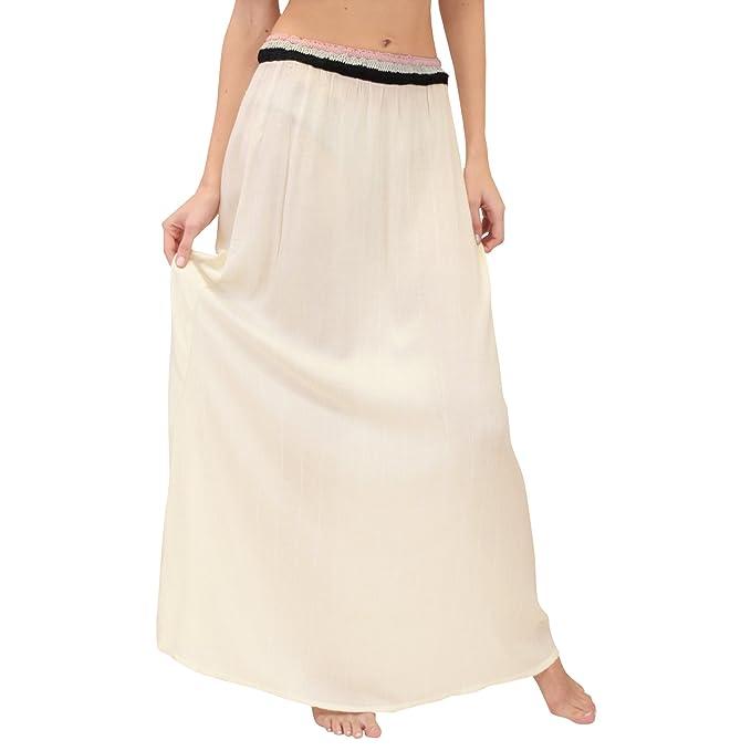 5ea8c0779 Zingara WomenŽs Nina Maxi falda beige talla 03: Amazon.com.mx: Ropa ...