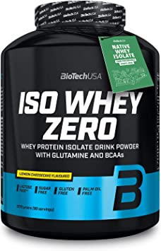 Biotech Isowhey Zero Lactose Free, Proteínas con sabor de Tarta de Queso y Limón, 2270 gr
